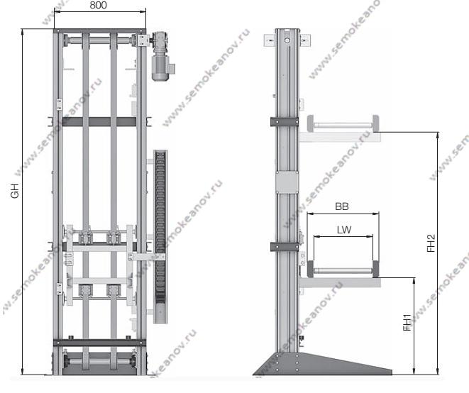 Вертикальные конвейеры коробок конвейера угольный разрез